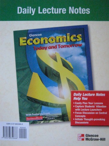 Economics Today & Tomorrow Daily Lecture Notes (Spiral)