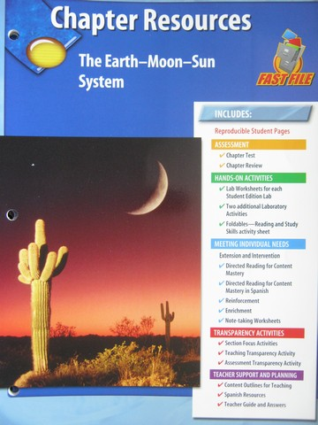 glencoe physical science chapter resources earth moon sun p 0078725283 k 12. Black Bedroom Furniture Sets. Home Design Ideas