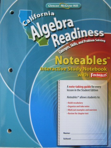 California Algebra Readiness Noteables Interactive Study (CA)(P)