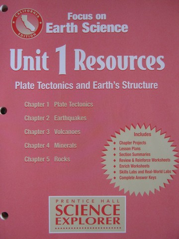Focus on Earth Science Unit 1 Resources (CA)(P)