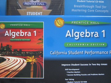 Algebra 1 California Student Performance Pack (CA)(Pk)