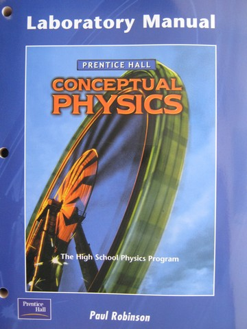 Conceptual Physics Laboratory Manual (P) by Paul Robinson
