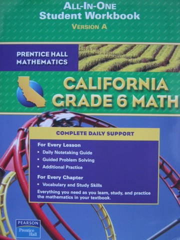 California Grade 6 Math All-in-One Student Workbook A (CA)(P)