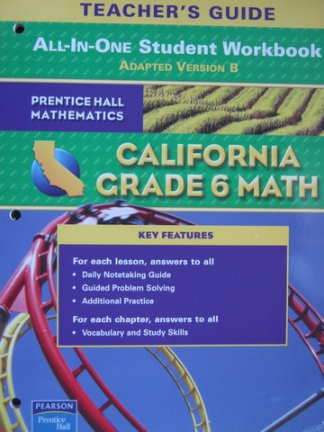 California Grade 6 Math All-in-One Student Workbook B TG (P)