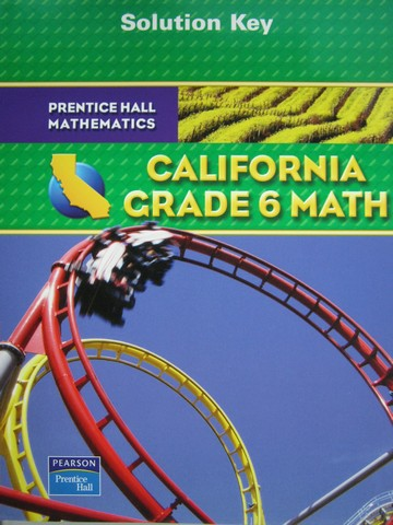 California Grade 6 Math Solution Key (CA)(P)