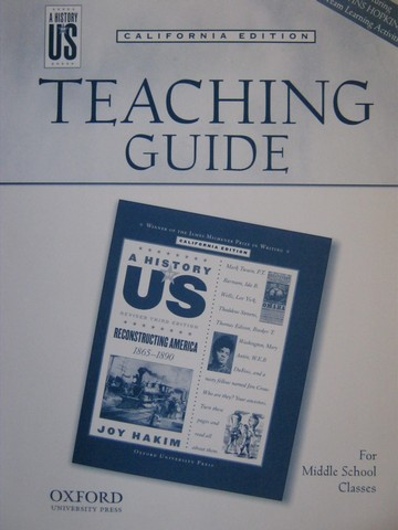 A History of US Revised 3e Reconstructing America TG (CA)(TE)(P)