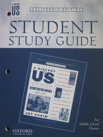 A History of US Revised 3e Reconstructing America Study (CA)(P)