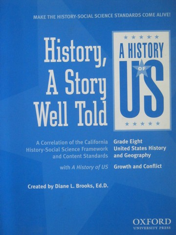 A History of US 8 History a Story Well Told (CA)(P) by Brooks
