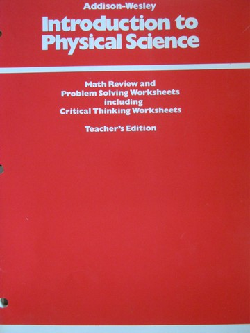 Introduction to Physical Science Math Review TE (TE)(P)
