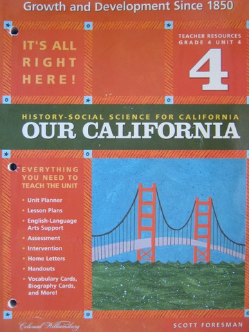 History-Social Science for California 4 Unit 4 TR (CA)(TE)(P)
