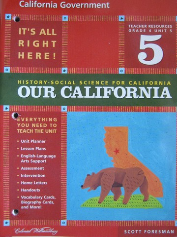 History-Social Science for California 4 Unit 5 TR (CA)(TE)(P)