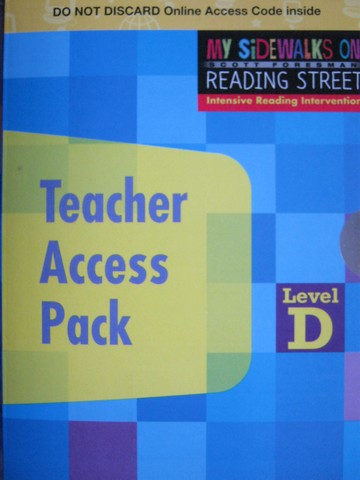 My Sidewalks on Reading Street D Teacher Access Pack (Card)