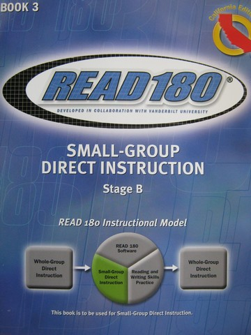 Read 180 Stage B Book 3 Small-Group Direct Instruction (CA)(P)