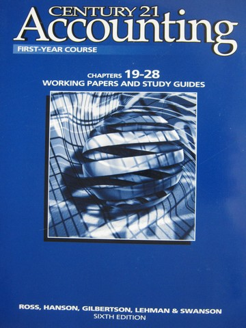 Century 21 Accounting 1st-Year 6e Working Papers 19-28 (P)