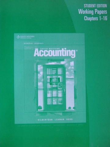 Century 21 Accounting General Journal 8e WP 1-16 (P)