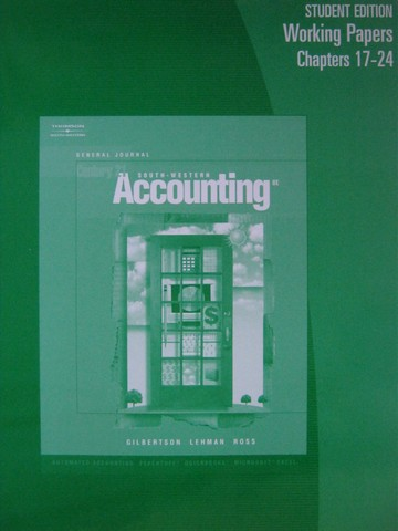 Century 21 Accounting General Journal 8e WP 17-24 (P)