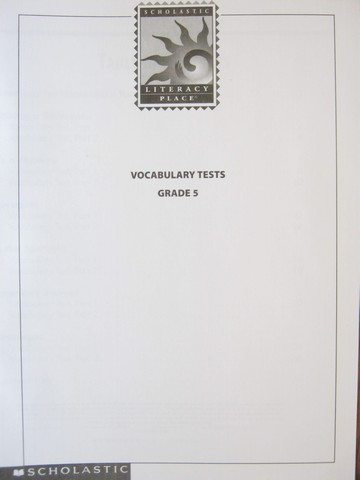 Literacy Place 5 Vocabulary Tests (P)