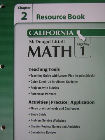 Algebra 2 book answers mcdougal littell