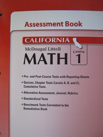 ML Math Course 1 Assessment Book (CA)(P)