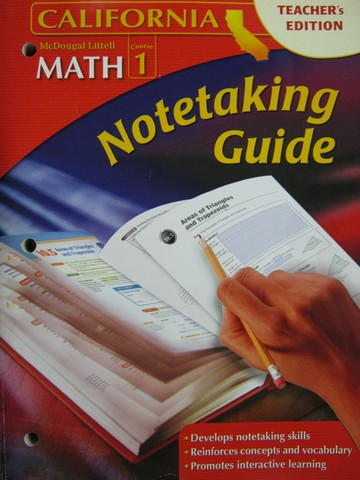 ML Math Course 1 California Notetaking Guide TE (CA)(TE)(P)