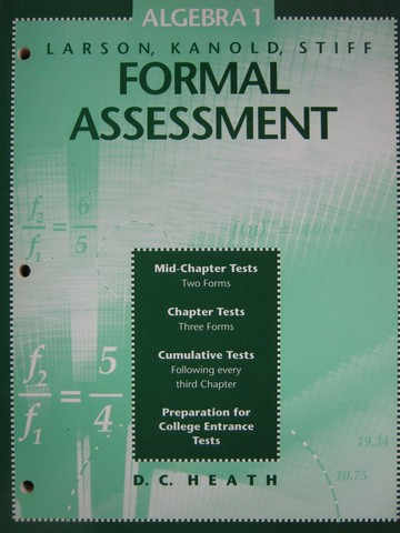 Worksheets D.c Heath And Company Worksheets d c heath and company k 12 quality used textbooks 1 0669299391 algebra formal assessment p by patterson wedzikowski