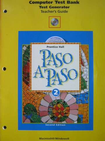 Paso a Paso 2 2nd Edition Computer Test Bank Test Generator (P)