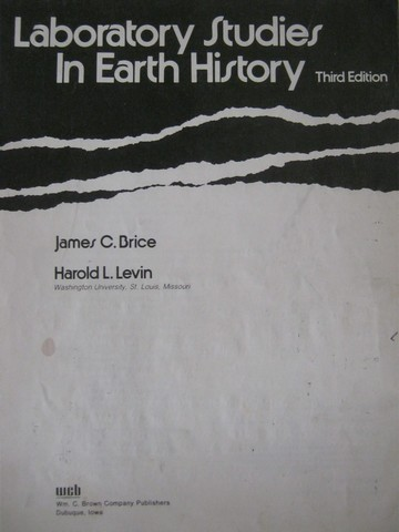 Laboratory Studies in Earth History 3rd Edition (Spiral)