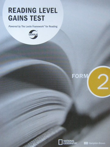 Reading Level Gains Test Form 2 (P)