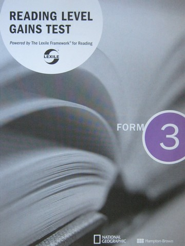 Reading Level Gains Test Form 3 (P)