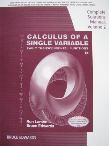 Calculus of a Single Variable Early Transcendental 6e CSM 2 (P)