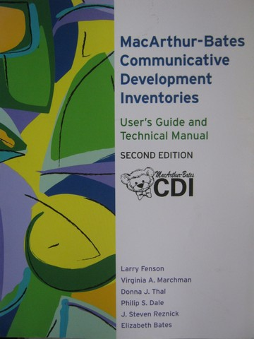 MacArthur-Bates CDI 2nd Edition User's Guide & Technical (P)