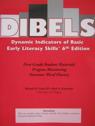 DIBELS 6th Edition 1 Progress Monitoring Nonsense Word (P)
