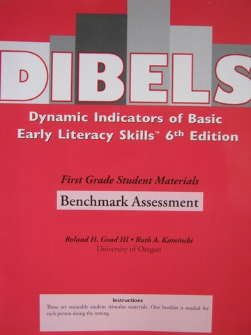 DIBELS 6th Edition 1 Benchmark Assessment (P) by Good III,