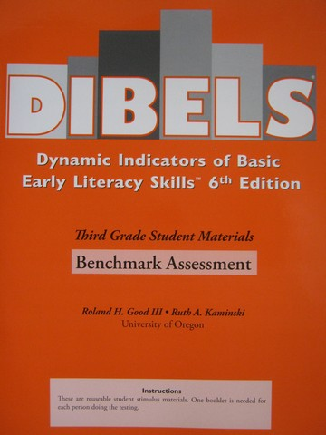 DIBELS 6th Edition 3 Benchmark Assessment (P) by Good III,