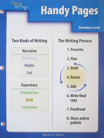 Step Up to Writing 3rd Edition Secondary Handy Pages (P)