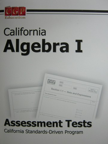 CGP California Algebra 1 Assessment Tests (CA)(Spiral)