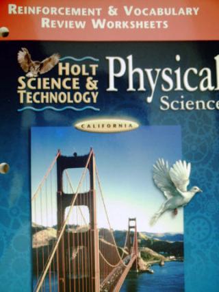 holt physical science reinforcement vocabulary review ca p 0030557038 k 12. Black Bedroom Furniture Sets. Home Design Ideas