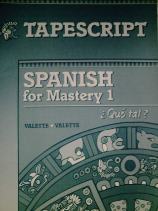 Spanish for Mastery 1 Que tal? Tapescript (P)