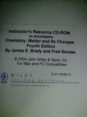 Chemistry: Matter & Its Changes 4th Ed Instructor's CD-ROM (CD)