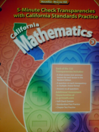 California Mathematics 3 5-Minute Check Transparencies (CA)(P)