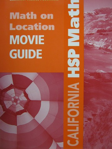 California HSP Math Grade 5 Math On Location DVD Movie Gui