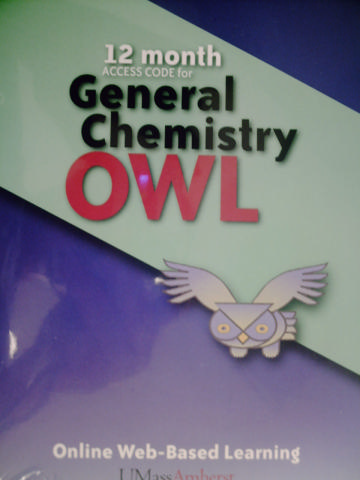 12 Month Access Code for General Chemistry OWL (Card)
