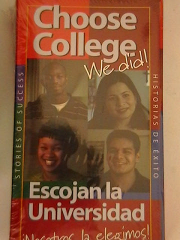 Choose College Stories of Success Video Tape (VHS)