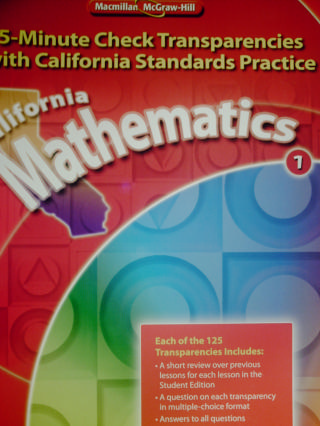 California Mathematics 1 5-Minute Check Transparencies (CA)(P)
