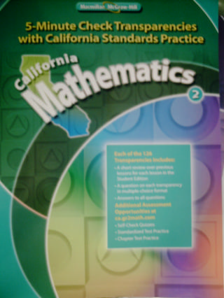California Mathematics 2 5-Minute Check Transparencies (CA)(P)