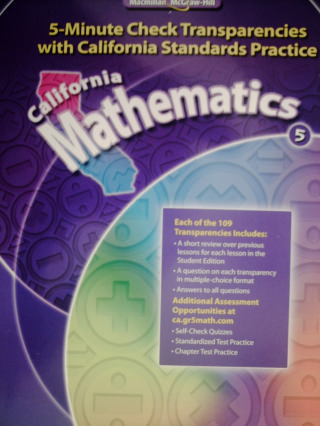 California Mathematics 5 5-Minute Check Transparencies (CA)(P)