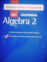 California Algebra 2 Countdown to Mastery Transparency (P)