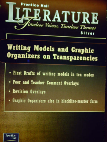 Literature Silver Level Writing Models & Graphic Organizers (P)