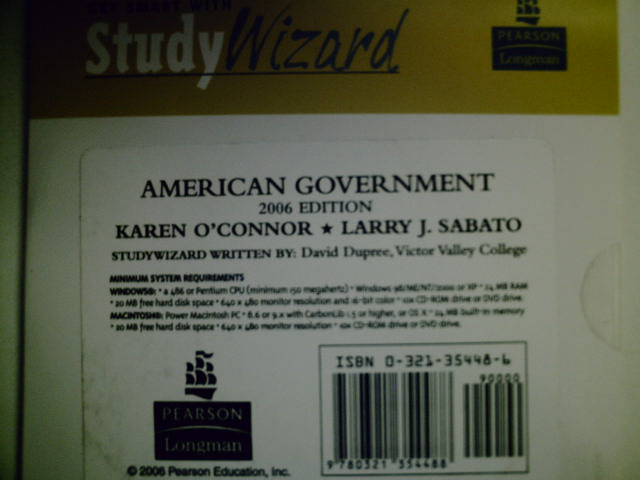 American Government 2006 Edition StudyWizard (CD) by Dupree