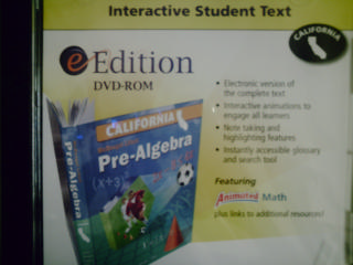Pre-Algebra eEdition Interactive Student Text (CA)(DVD)